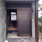 玄関ドア リフォーム YKKAP 引違戸 光市