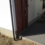 光市 リクシル 玄関ドア テラス取付